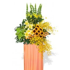 Sunflower and Orchid Grand Opening Stand